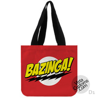 Bazinga Big Bang Theory New Hot, handmade bag, canvas bag, tote bag