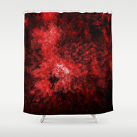 Enana roja Shower Curtain by MJ Mor