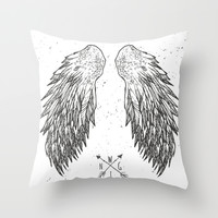 wings Throw Pillow by Julia