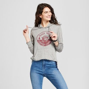 Women's Smokey Bear® Graphic Hoodie (Juniors') - Gray