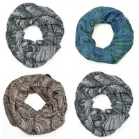 Atlantic Seas Wave Knit Infinity Scarves