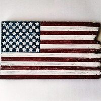 Barn Wood American Flag, Patriotic Wall Decor, Rustic/Country Home Decor, Military Pride Decor