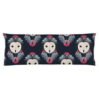 Owl Dark Background Body Pillow