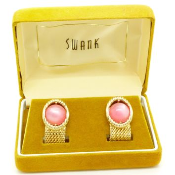 Vintage Swank Cufflinks In Original Velvet Box