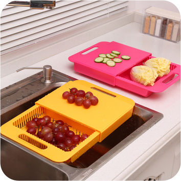 Korean Chopping Block Kitchen Flex Rack [6034339841]