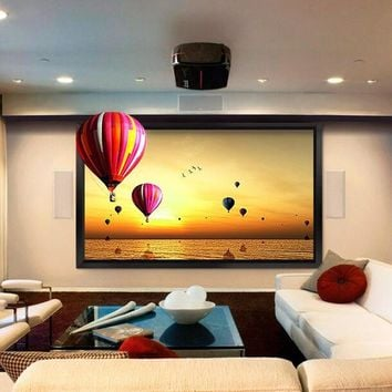 100-inch Diag. 16:9 4K Ultra HD Ready HDTV Fixed Frame Home Theater projection projector Screen with cinema white