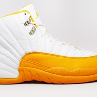 Air Jordan 12 Retro Ray Allen Seattle Supersonics P.E. White Yellow *VNDS* Basketball Shoes <>