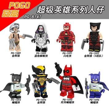 Deadpool Dead pool Taco Single Sale Super Heroes PG8147 Wolverine Gwen Stacy Spider-Man The Flash Bruce Wayne  Children's puzzle gift toys AT_70_6