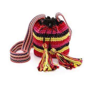 M Missoni Rafia Bucket Bag
