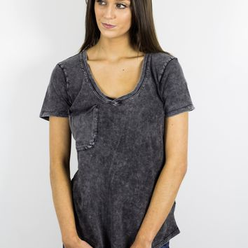 Washed Cotton Pocket Tee- Z Supply
