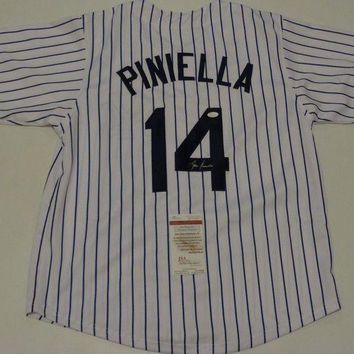 ONETOW Lou Piniella Signed Autographed New York Yankees Baseball Jersey (JSA COA)