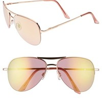 Steve Madden 60mm Aviator Sunglasses