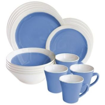 American Atelier Ashbury 16-Piece Dinnerware Set in Blue