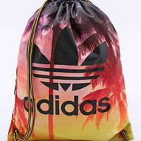 Adidas Palm Print Gym Bag in Turquoise - Urban Outfitters