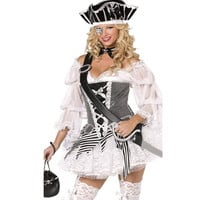 Halloween Pirate Women's Fashion Indian White Costume [8979039943]