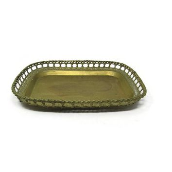 Mid Century Brass Vanity Tray, Tray Farmhouse Vanity, Brass Home Decor, Hollywood Regency