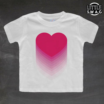 Pink Hearts (white shirt) - toddler, kids t-shirt, children's, kids swag, fashion, clothing, swag style