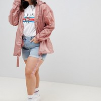 ASOS DESIGN Curve Rainwear Jacket With Fanny pack at asos.com