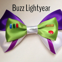Buzz Lightyear Inspired Hair Bow