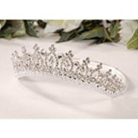 Darice V35969 Tiara with Pearl Accents, Silver
