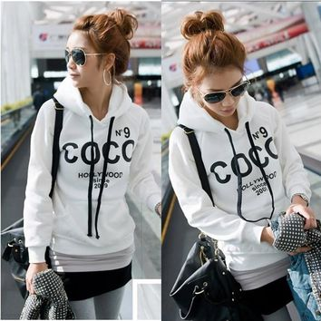 New Fashion Korea Women Casual Hoodie Sweatshirt Tracksuits Tops Outerwear
