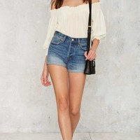 Levi's Wedgie Fit Denim Shorts - Golden West
