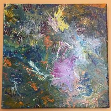 Fiesta Abstract Art on Canvas Painting