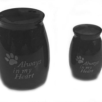 Always in My Heart Urn, Dog Paw Urn, Cremation Necklace, Pet Urn, Dog Paw Urn Vessel, Pet Ashes Holder, Cremation Urn, Memory Urn, Urn