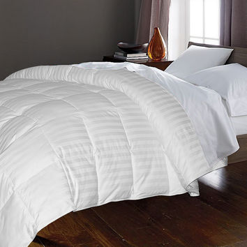350TC Cotton Damask Stripe (2cm) 50/50, WGD/WGF Comforter: Twin