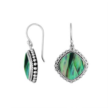AE-6203-AB Sterling Silver Earring With Abalone Shell