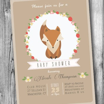 best baby fox baby shower invitations products on wanelo