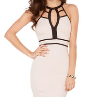Strappy Halter Cut-out Bodycon Dress