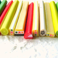 Fruits and Cake Cane Clay Sticks For Decorating 15 by DecoSweets