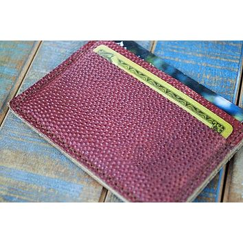 5-Slot Super Slim Front Pocket Card Sleeve Wallet (Horween Football Leather)