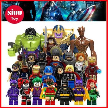HOT Avengers 3 Infinity War Building Blocks Toys Figures Legoing Marvel Thanos Iron Man Corvus Glaive Capation America