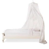 Metallic Hearts Bed Canopy - White - Pillowfort™