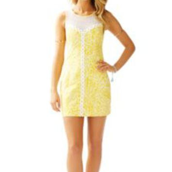 MacFarlane Lace Detail Shift Dress - Lilly Pulitzer
