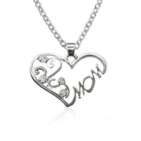 Shiny Jewelry Gift Stylish New Arrival Hot Sale Simple Design Heart Diamonds Rhinestone Accessory Necklace [10754919951]