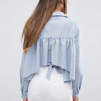 Missguided Shirt With Back Detail at asos.com