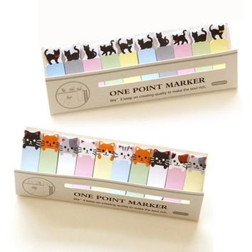 Office Writing Cute Funny Joy Cat Style Sticker Post It Bookmark Memo Marker Point Flags Sticky Notes stationery