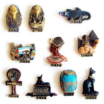 Egypt Pharaoh Mystery Sign 3D Fridge Magnets Tourism Souvenirs Refrigerator Magnetic Stickers Home Decortion