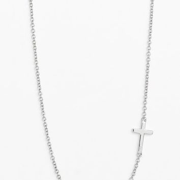 Women's Bony Levy Cross Station Necklace (Nordstrom Exclusive)