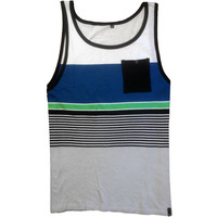 Trails Pocket Tank White/Green