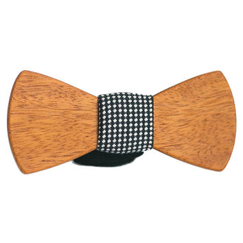 African Wood Bow Tie