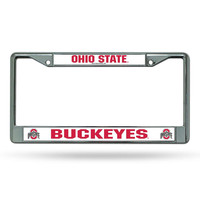 Ohio State Buckeyes NCAA Chrome License Plate Frame