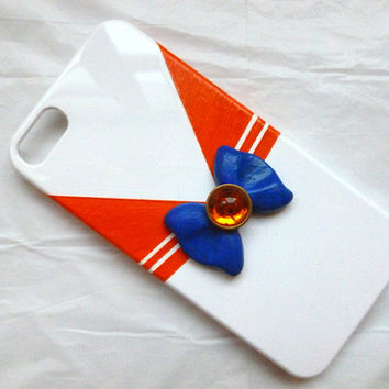 Custom Sailor Venus Inspired iPhone 5 phone case Hand Sculpted and Painted Sailor Outfit