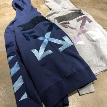 Off White  Gradient arrow hooded sweater