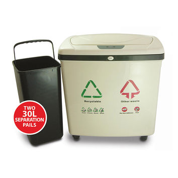 Fully Automatic 2-Compartment Recycle Touchless Trash Can NX 16 Gallon