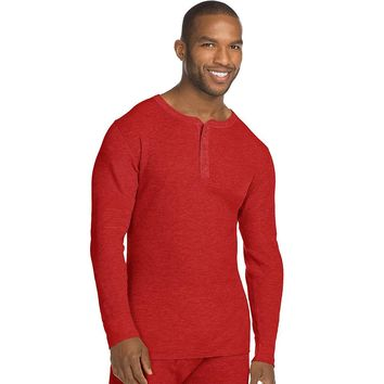 Hanes Mens X Temp Thermal Henley