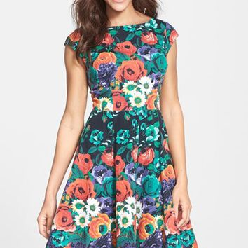 Women's FELICITY & COCO Stretch Cotton Fit & Flare Dress (Nordstrom Exclusive)